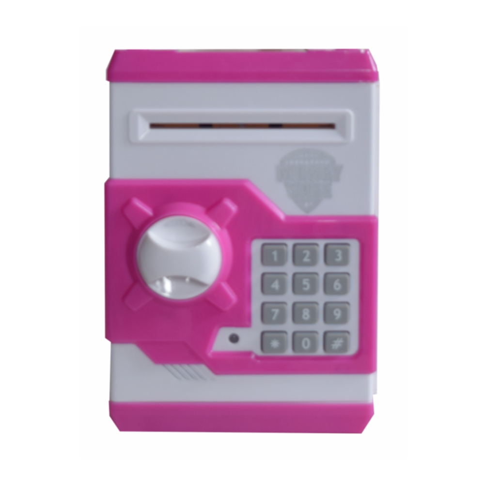 Money safe atm machine piggy bank toy for kids open with for Secret piggy bank