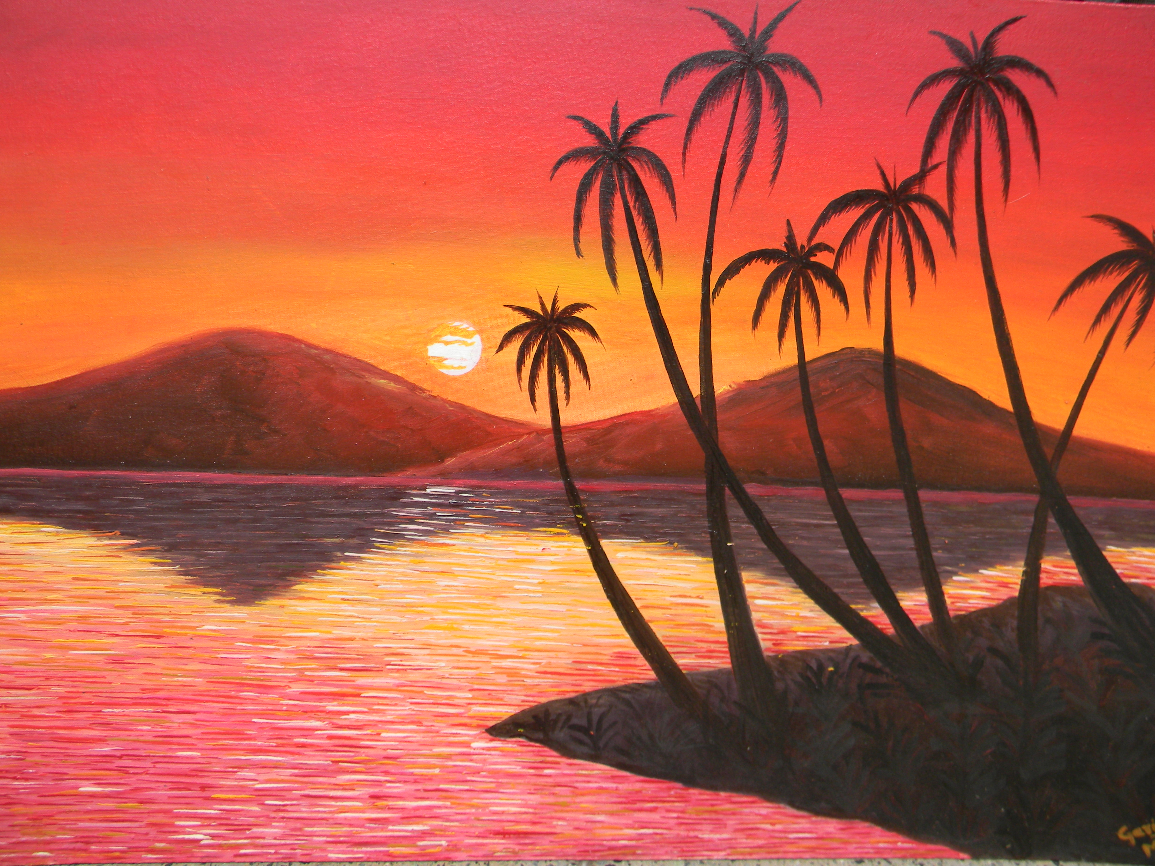 nature moods canvas painting Prices in India- Shopclues ...