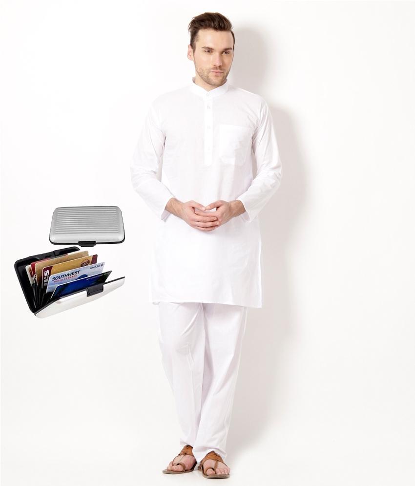 White  Kurta & Paijama Set