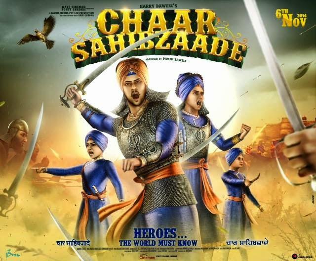 Chaar Sahibzaade (2014) 1080p Untouched WEBHD AVC AAC ESub [DDR] 3.7 Gb
