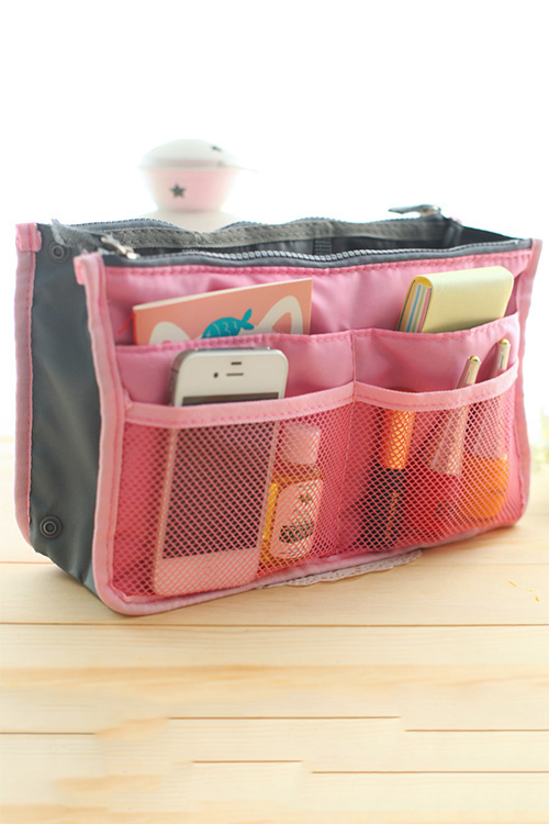 It keeps your DIY Purse Organizer, durable and easily wipeable!** So here are the contents of my bag regularly tossed around, and difficult to locate: A cereal box will come to the rescue as the support for my new organizer.