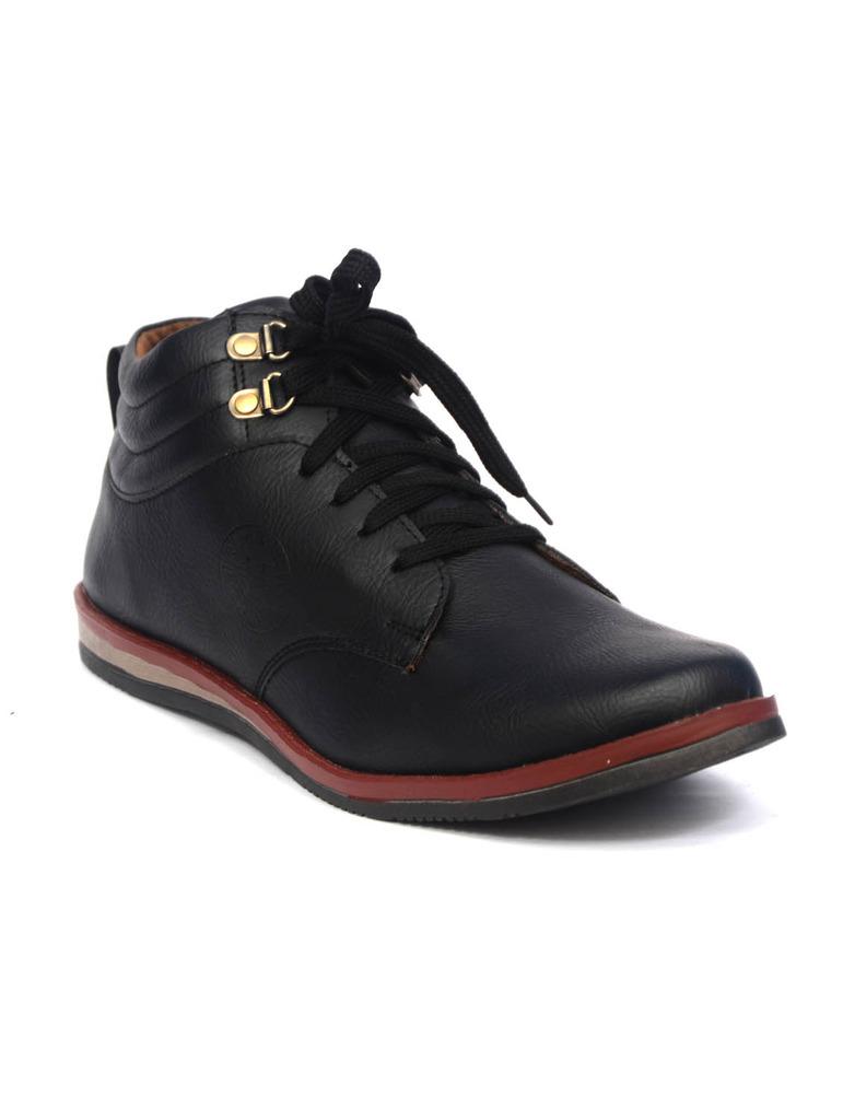 Men's Comfortable Black Boots -3