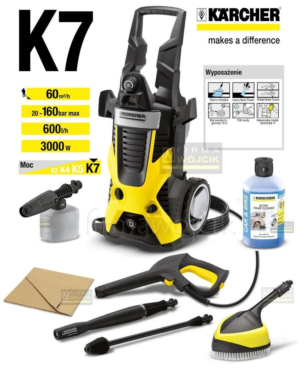 buy karcher k7 car 3000 watt vacuum cleaner yellow. Black Bedroom Furniture Sets. Home Design Ideas