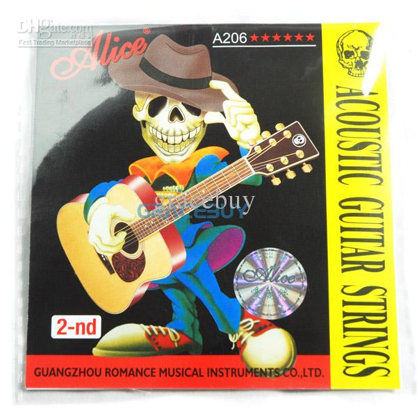 2 Pieces of Alice B  2nd  Acoustic Guitar Stainless String available at ShopClues for Rs.150