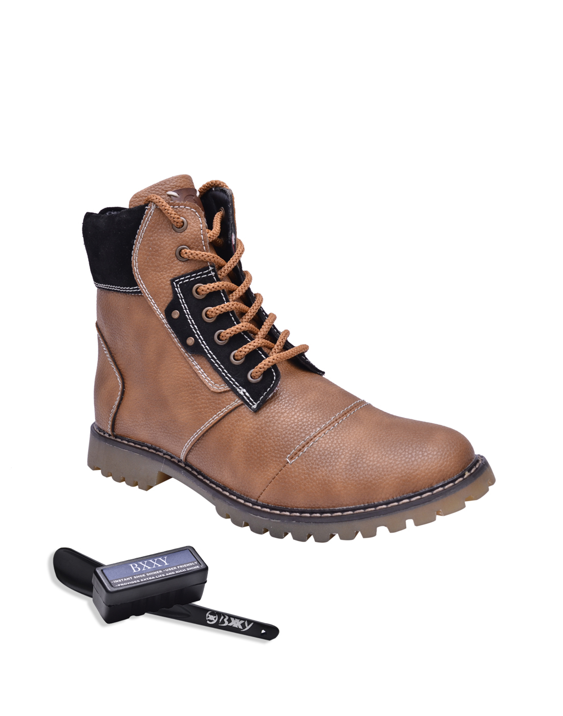Bxxy Mens Tan Lace-Up Boots