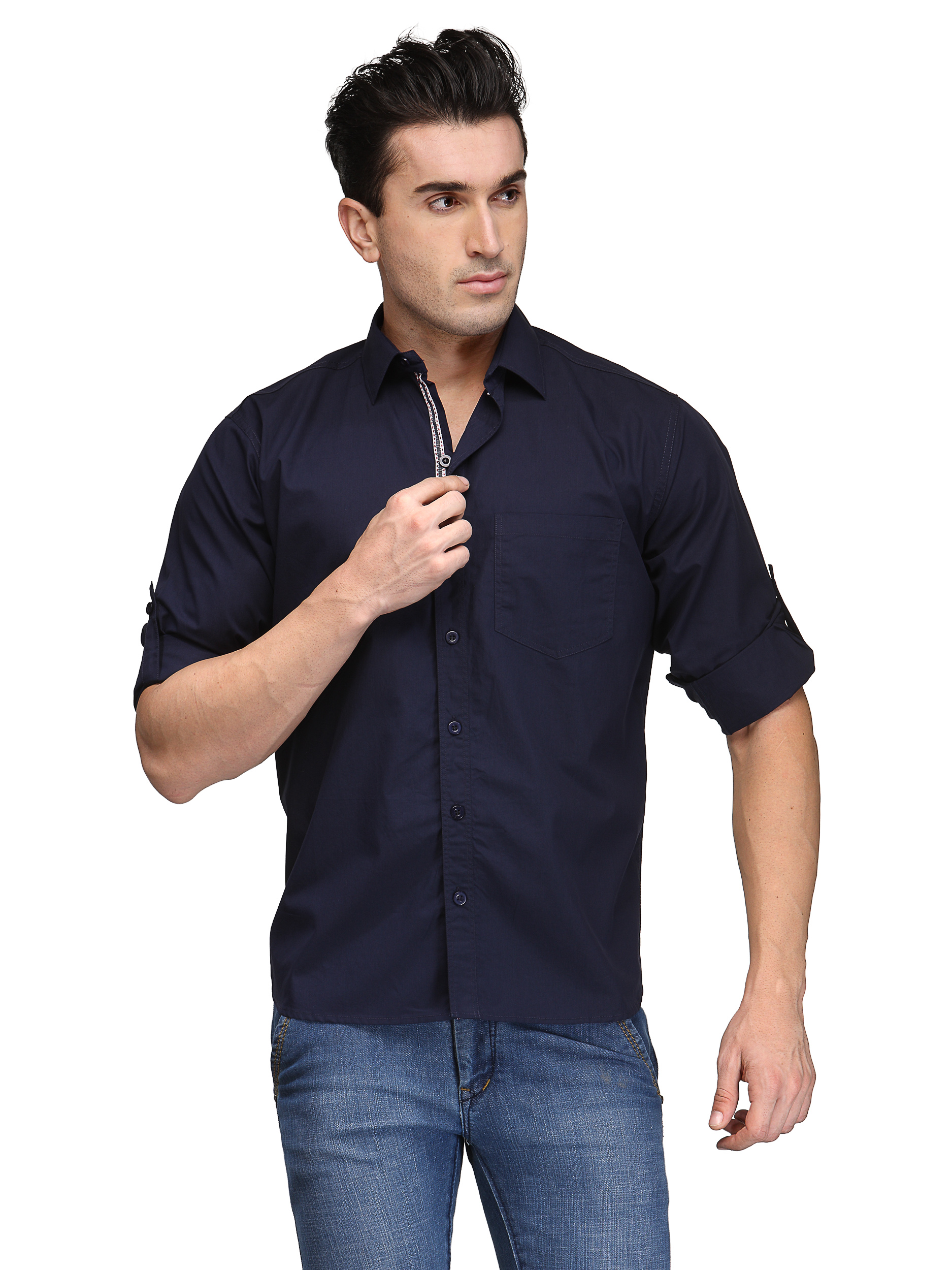 TSX Exquisite Roll Up Sleeve Casual Shirt