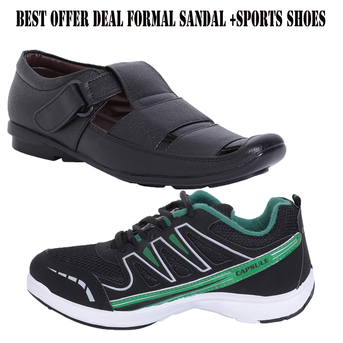 combo offer of stylish formal sandals and columbus sports