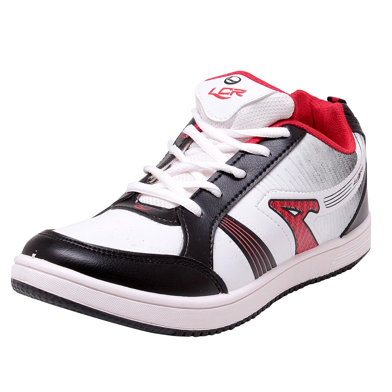 Buy Lancer TS-3 White Black Red Elegant Sports Shoes ...