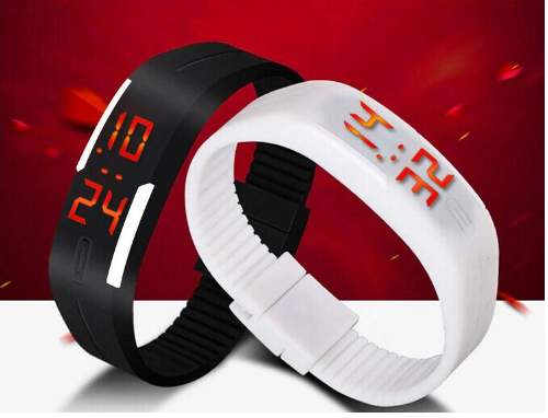 Digital LED Band Watch for boys/Girls Combo By BrandedKing ( Black-white)