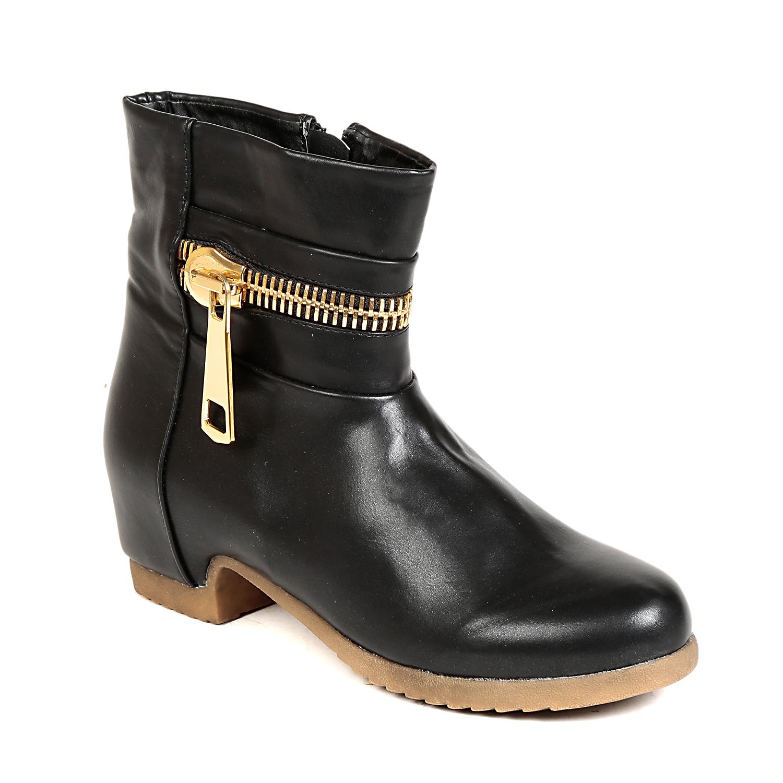 TEN Rakish Womens Black Mid Length Boots