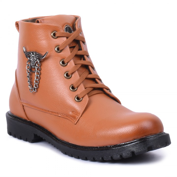 Foot n Style Tan Boots fs4020
