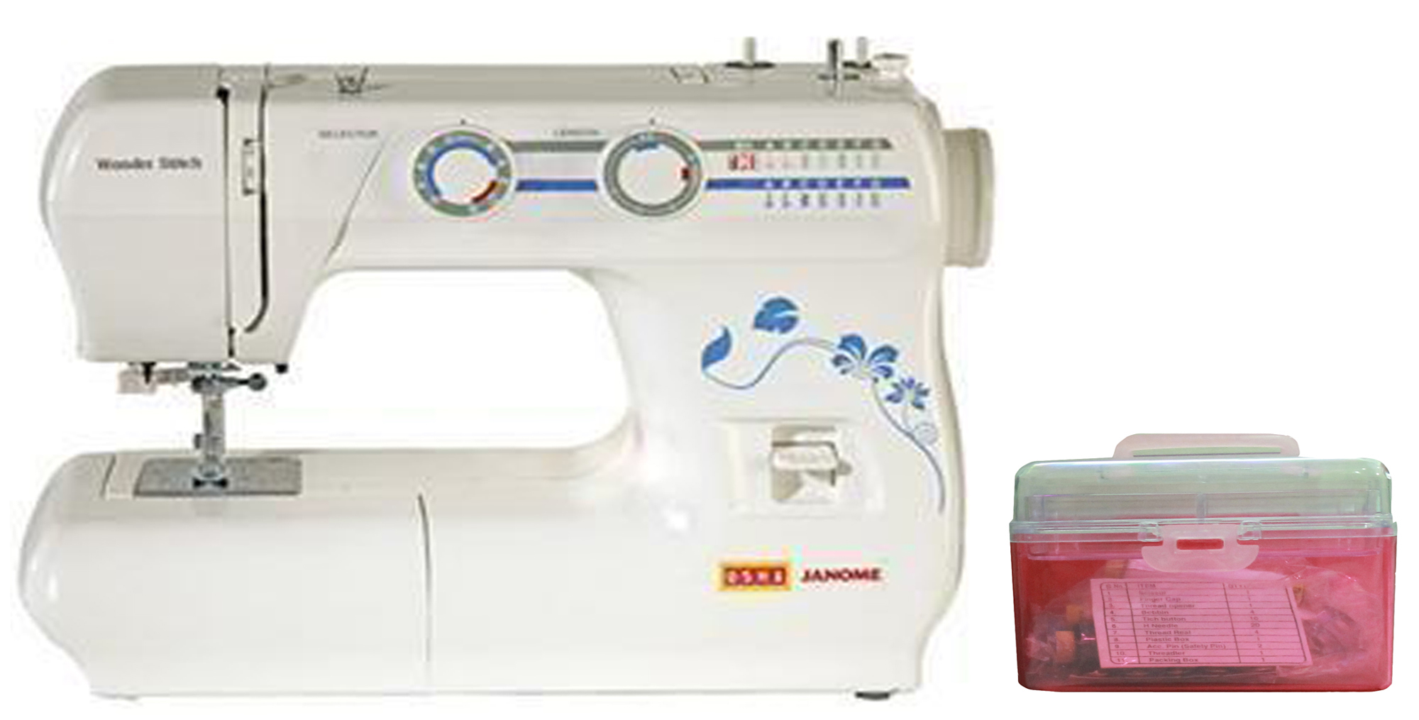 Usha Wonder Stitch Automatic Sewing Machine + Usha Sewing Kit available at ShopClues for Rs.11050