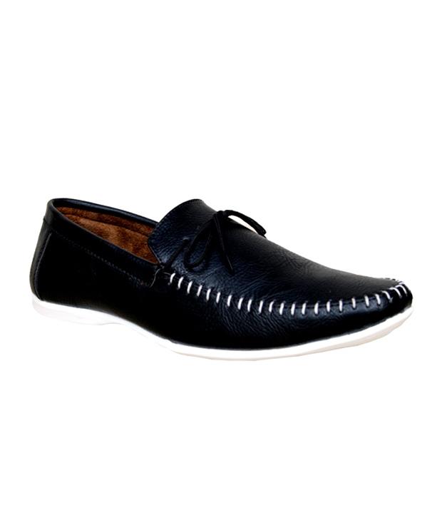 Sukun Men Black Loafer Shoe