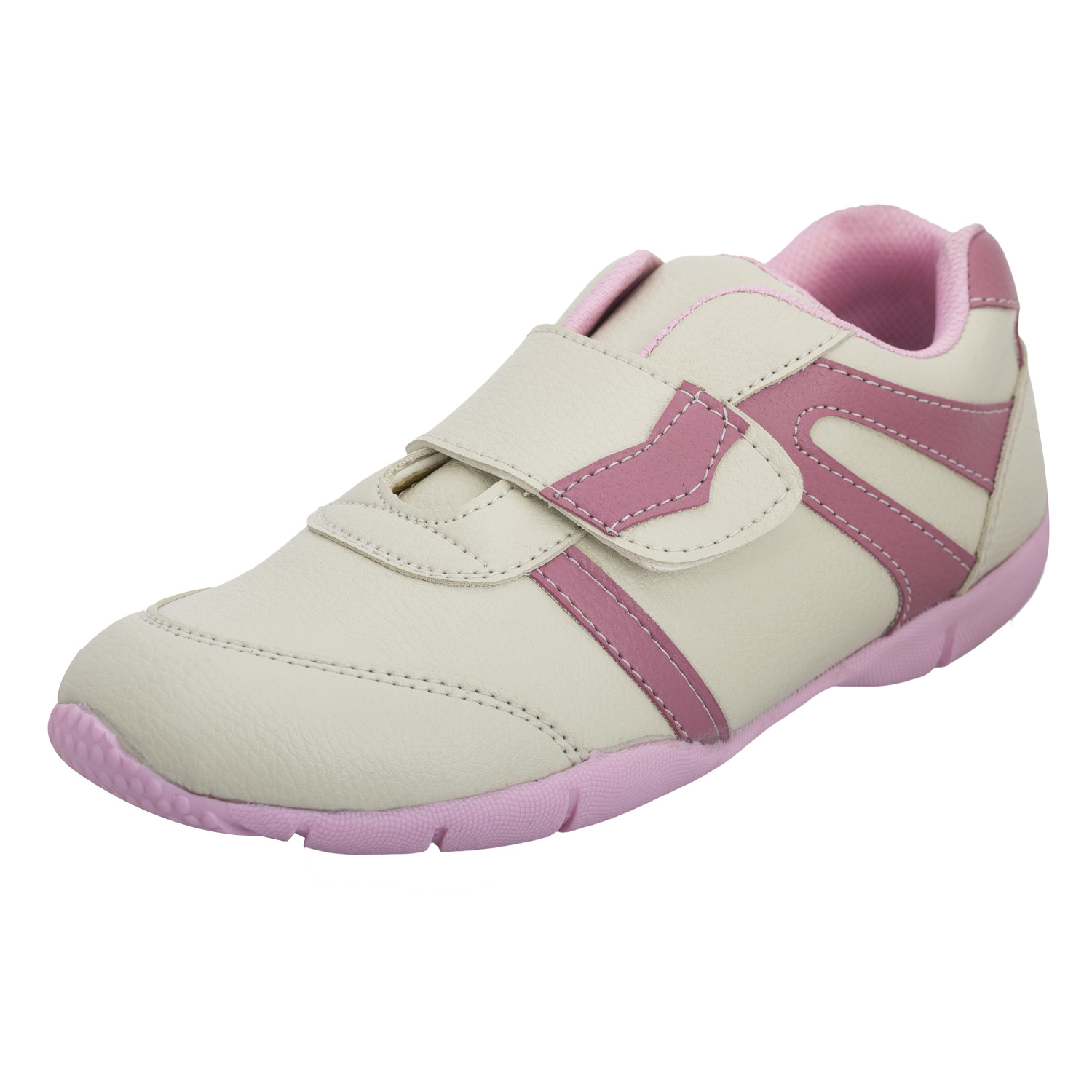 Advin England Cream/Pink Velcro Sports Shoes