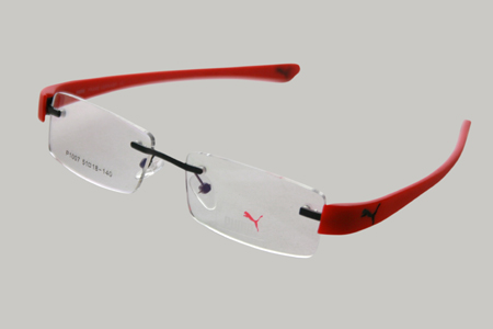 Red Rimless Glasses : Spectacle & Eyewear Frames Rimless in Red Color EyeGlasses ...