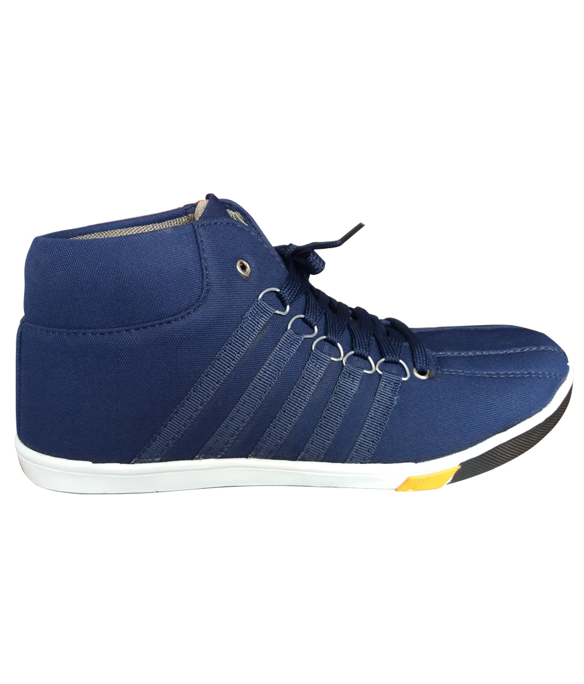 brandtrendz s navy blue casual canvas shoes buy
