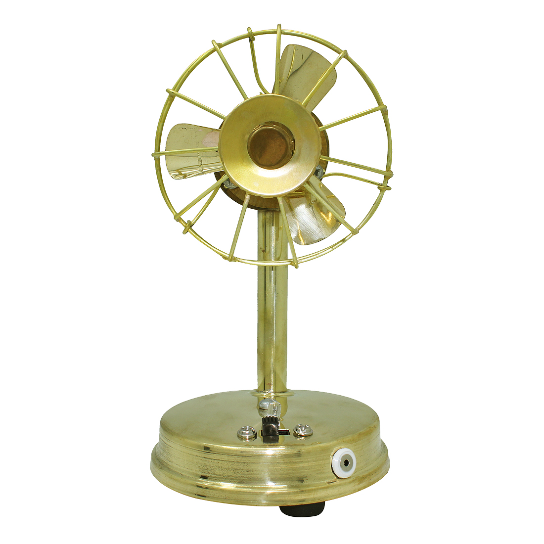 Frabjous Handcrafted Brass Mini Table Fan available at ShopClues for Rs.437