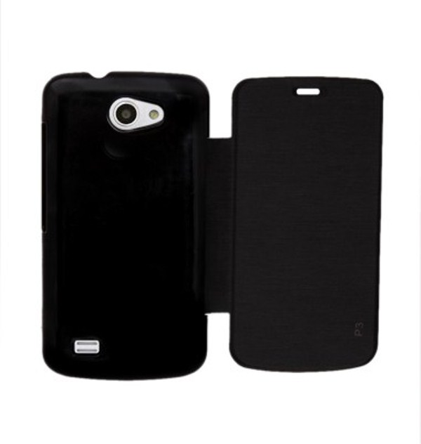 Ddf Black Flip Cover For Gionee Pioneer P3 Ddffc79 available at ShopClues for Rs.99