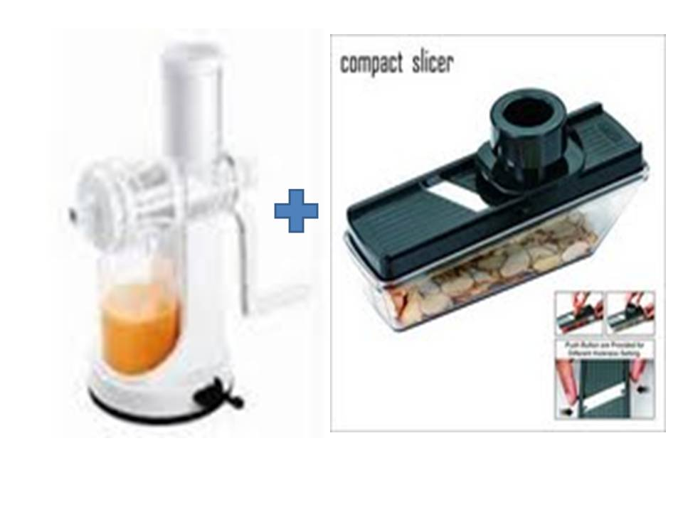 Buy Ganesh Plastic Fruit & Vegetable Juicer & Get Compact Slicer Dicer Free