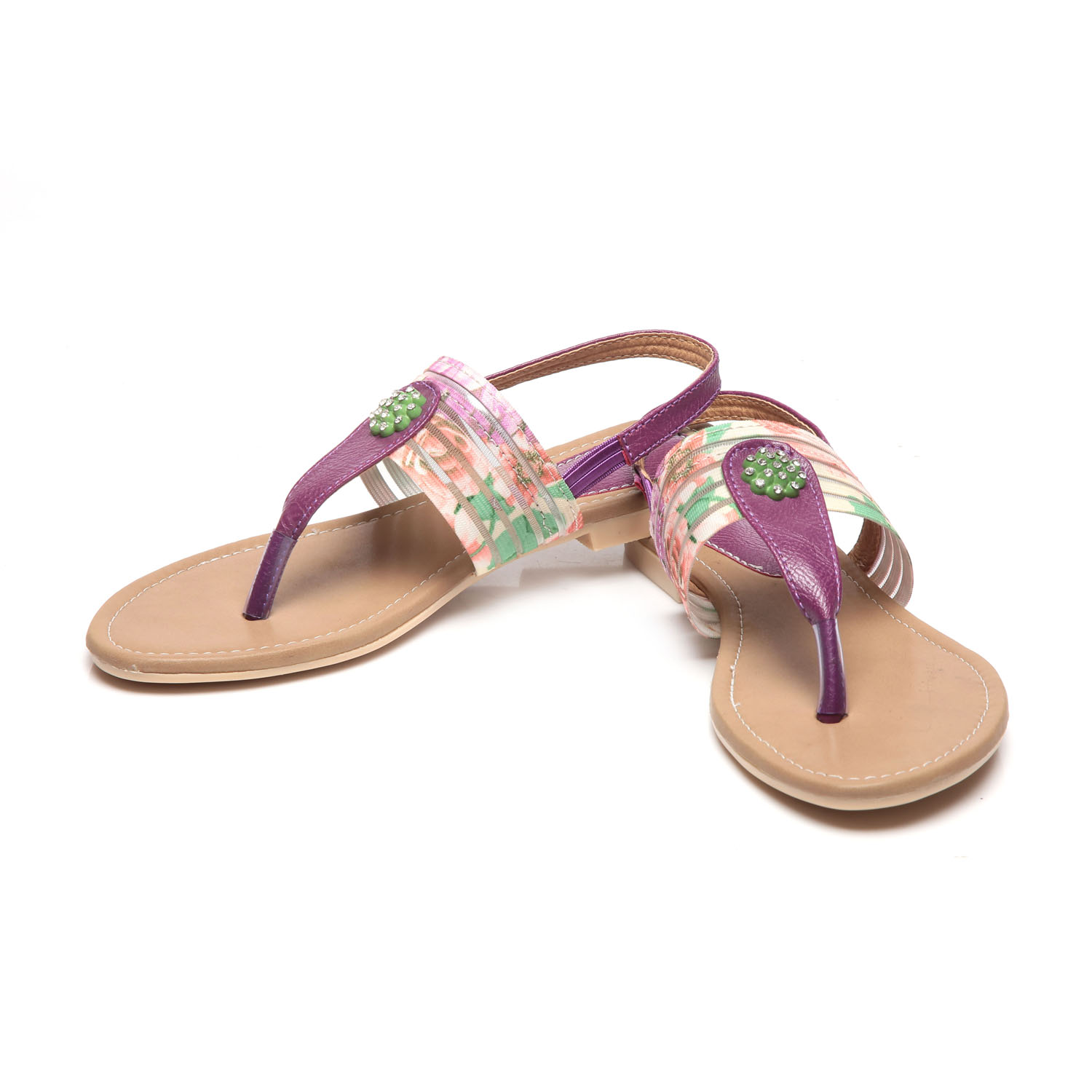 Synthetic Leather ABR Purple Flats