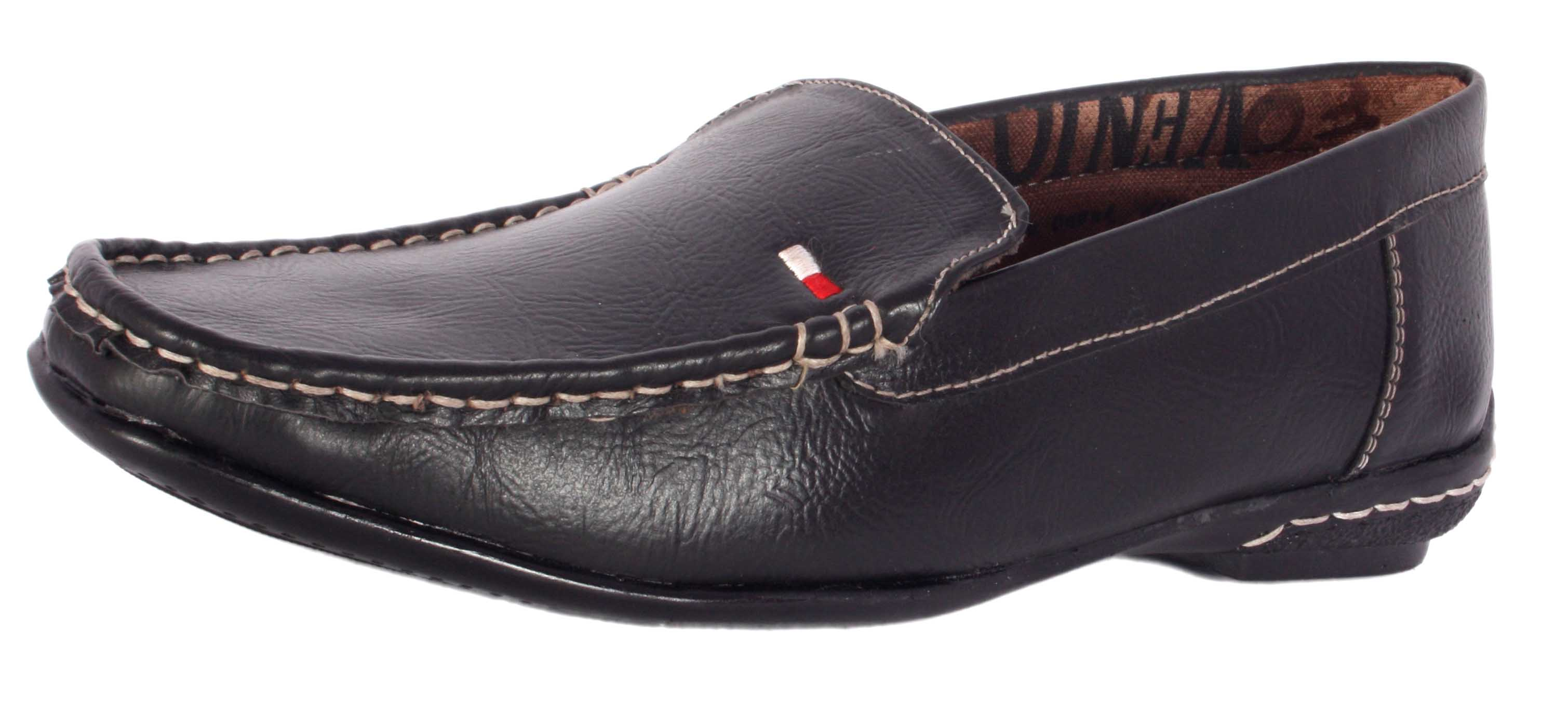 Shoeniverse Black color designer loafers