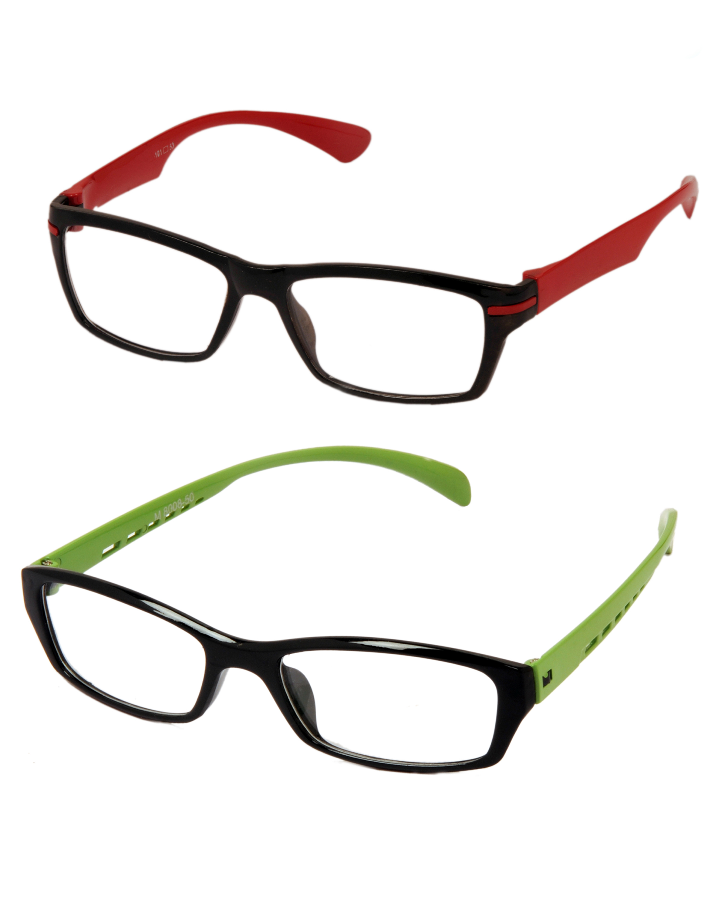 Glasses Frames Locations : Aoito Red & Green Temples Spectacles Frames Eyeglasses For ...
