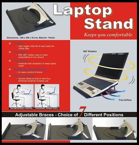 Premium extra strong durable 360° Rotate Laptop Notebook rotating Stand