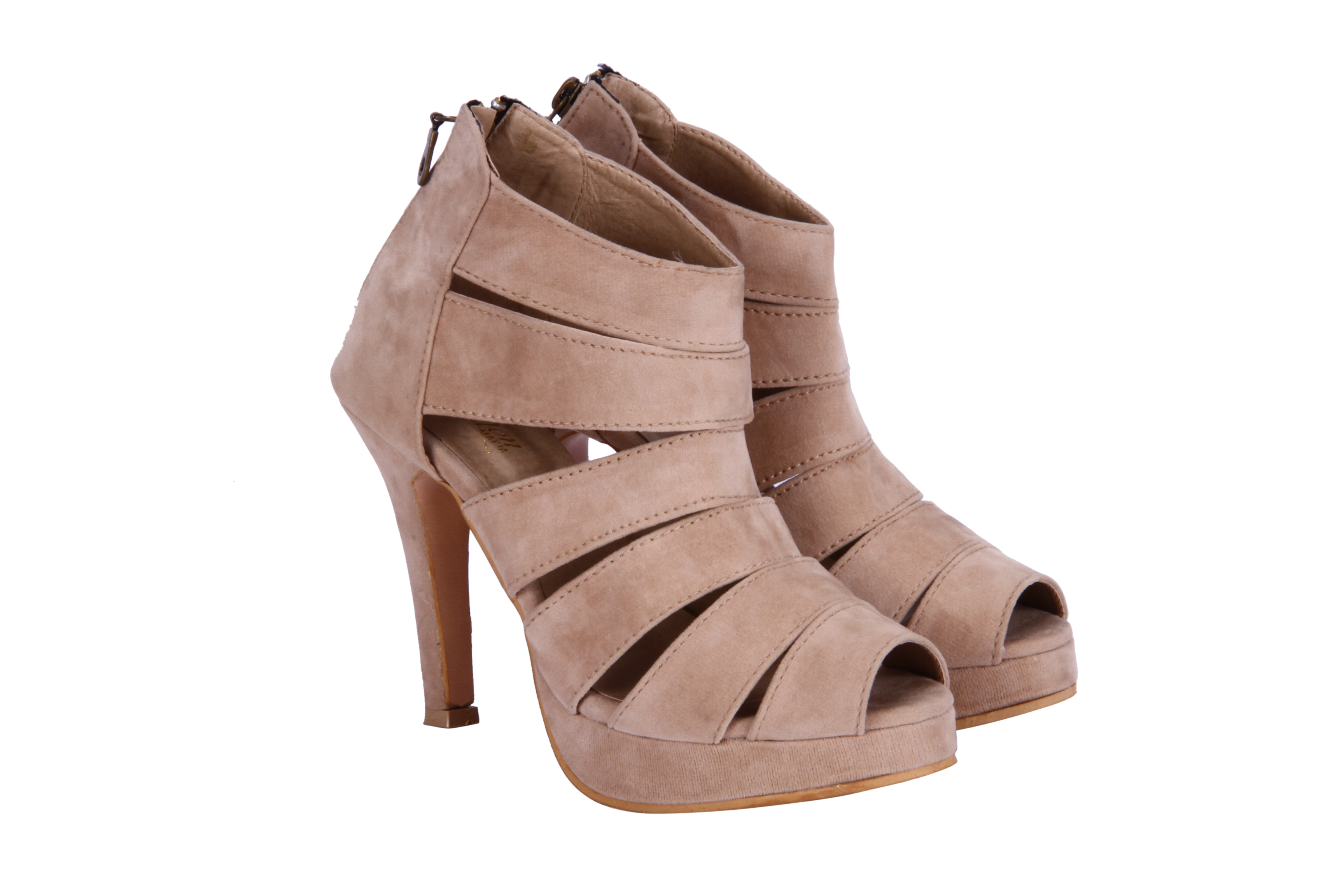 Fashion Mafia:Ah-6Bg Beige Heels