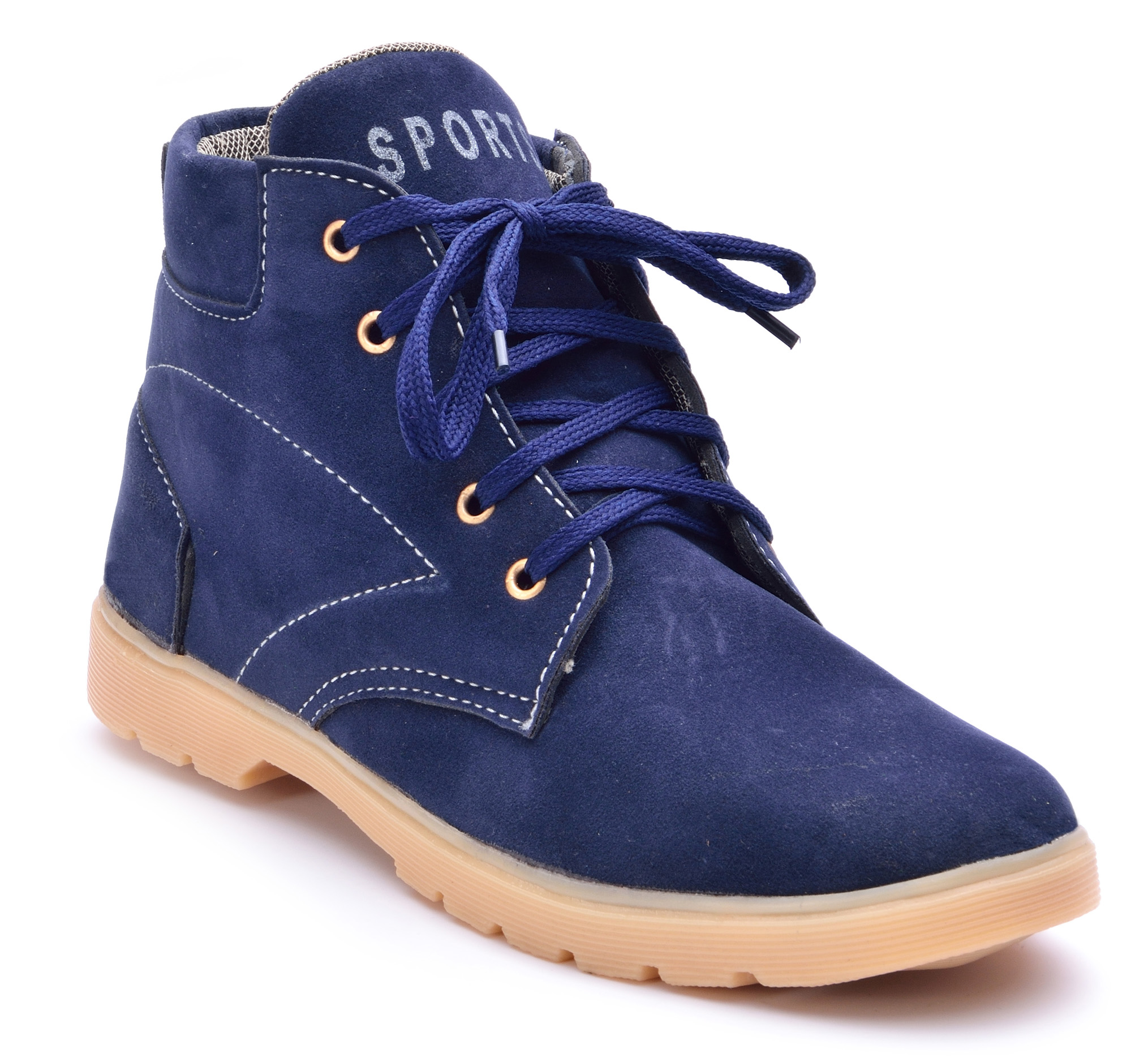 Boysons blue suede ankle length boots