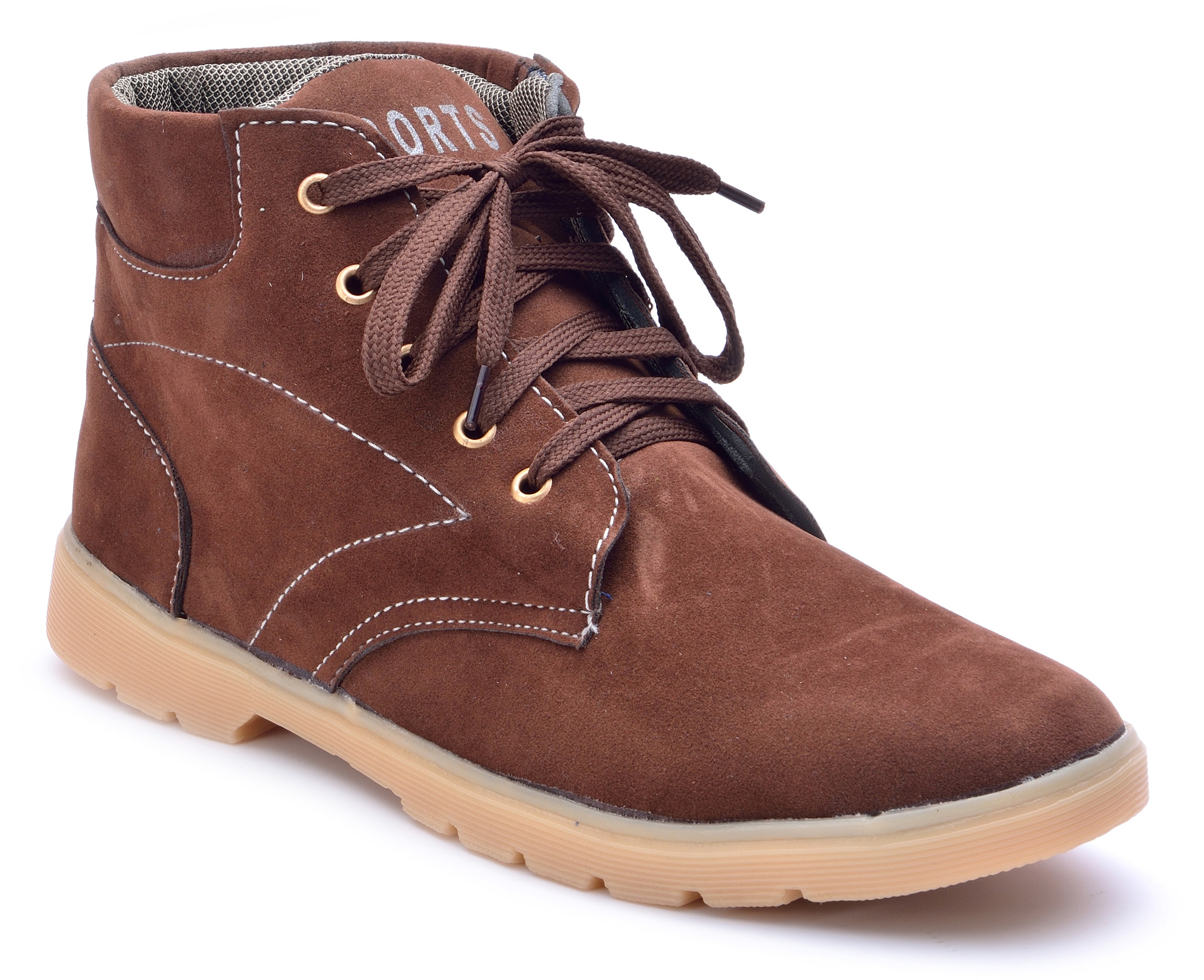 Boysons brown suede ankle length boots