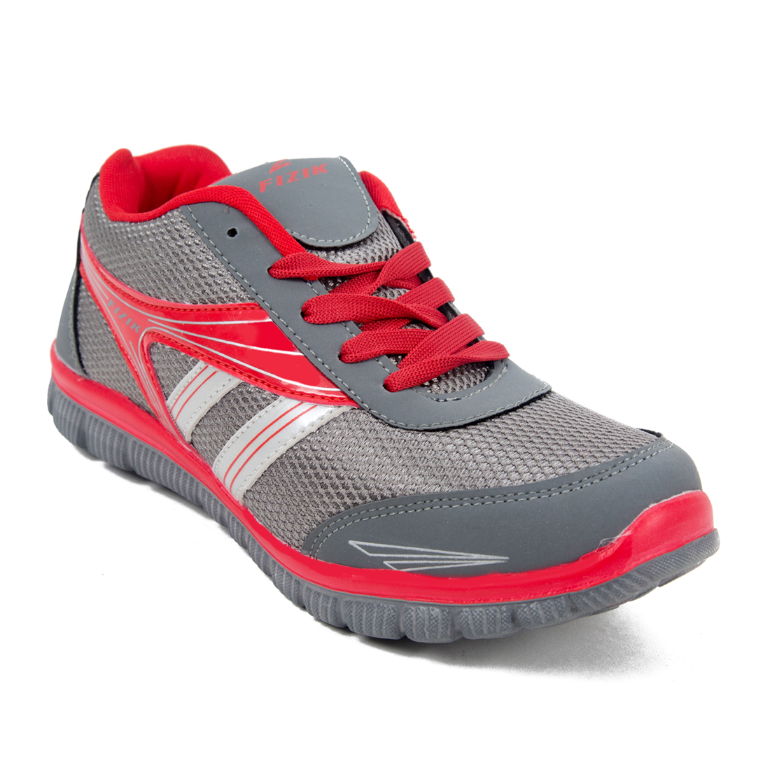 FIZIK Mens Sports Shoe Grey-Red (Zac-13)