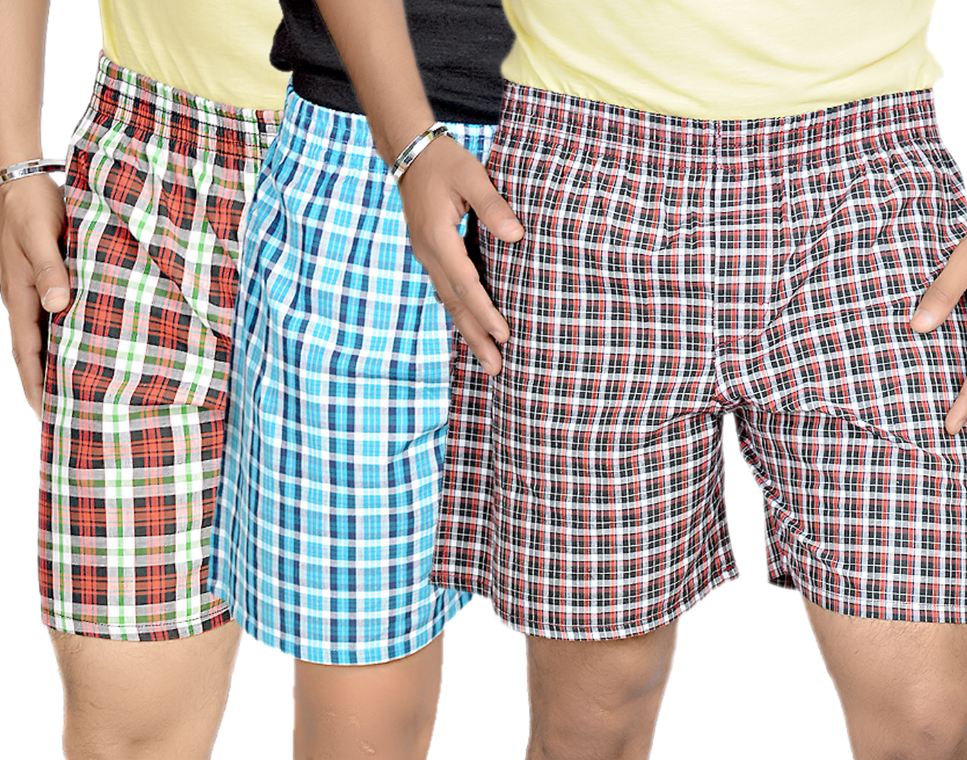 True Fashion Combo Of 3 Cotton Checkered Boxer Shorts SACBXR13