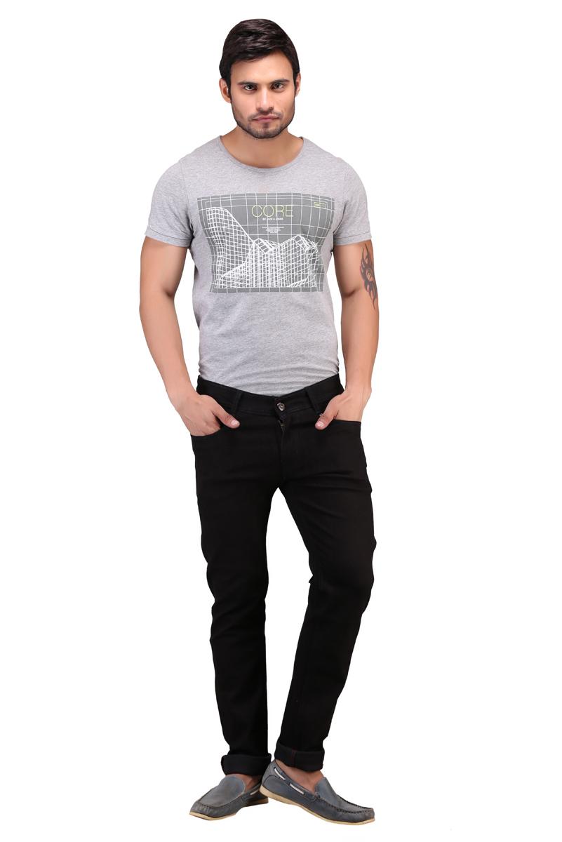 X-Cross Xcr Cotton Blend Slim Fit Jeans For Men