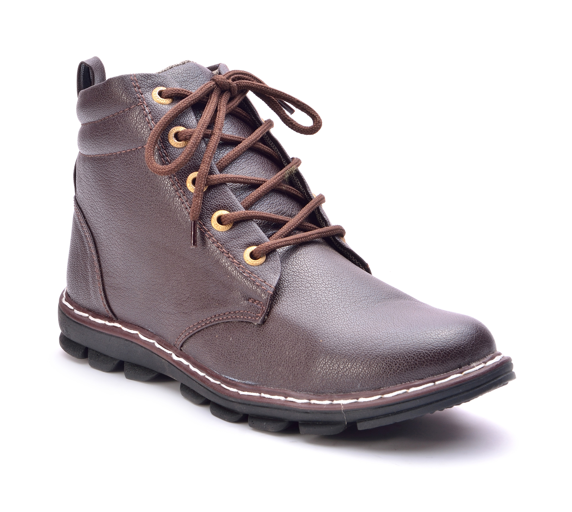 Boysons brown stylish ankle length boots(bchni-brwn)
