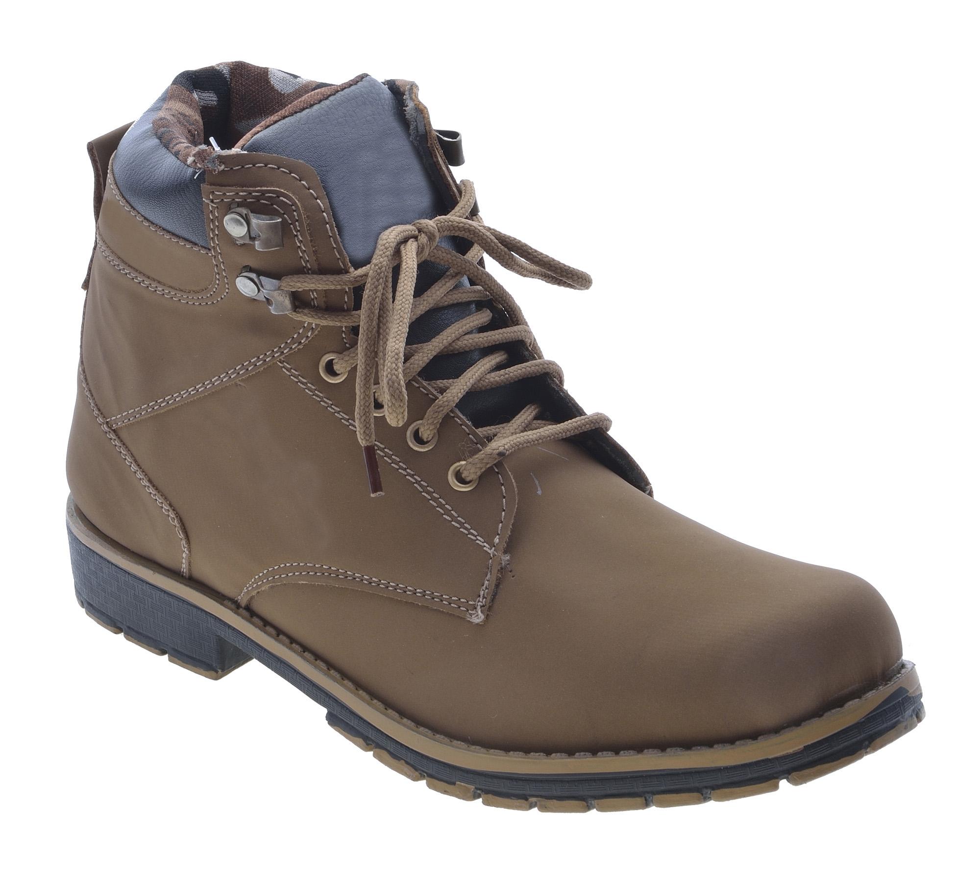 Boysons brown stylish ankle length boots(opera53-drkbrwn)