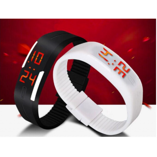 Digital LED Band Watch for boys/Girls Combo By Branded Watch ( Black-white)