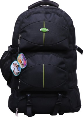 S R casual Polyester Backpack Boys, Girls,rucksack bag (Black)
