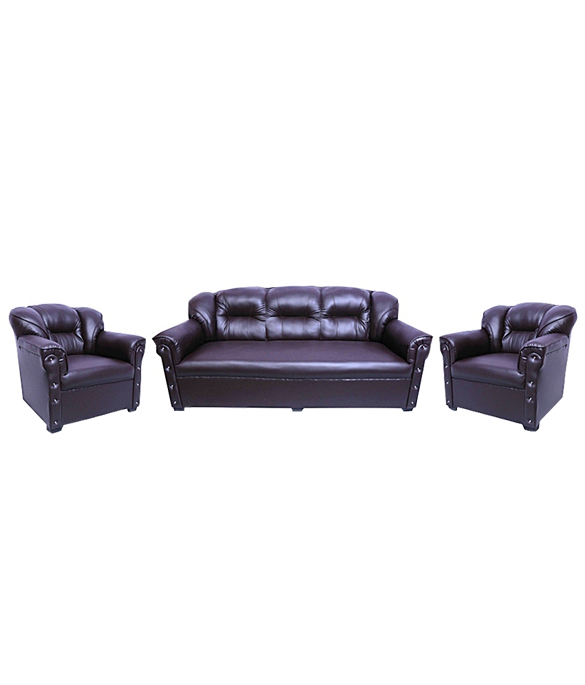 Get best deal for Westido Manhattan 3+1+1 Sofa in Brown at Compare Hatke
