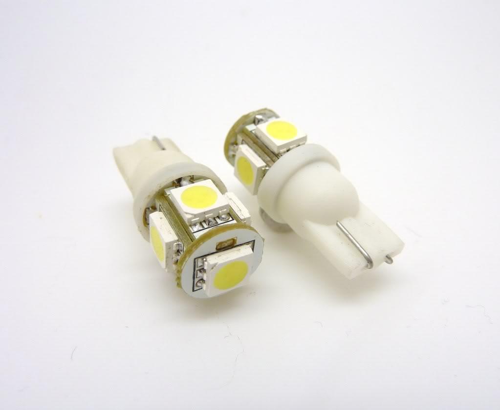 LED SMD SMT 194 T10 Wedge Base Warm White 12V DC/AC