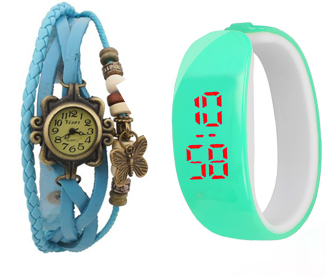 Latest Wedding party watch combo for Girls, Women by Insta Deals(SKYBLUE)