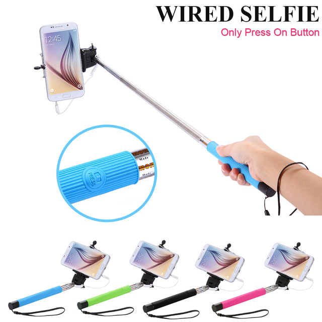buy selfie stick with aux cable 3 5 mm jack online in india 89501875. Black Bedroom Furniture Sets. Home Design Ideas