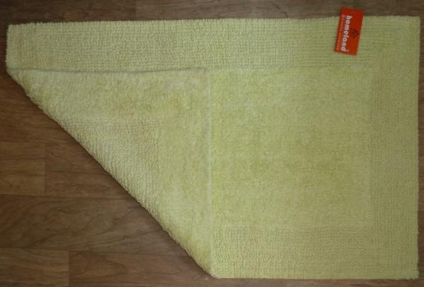 Cotton Bath Mat Gala Reversible Light Green