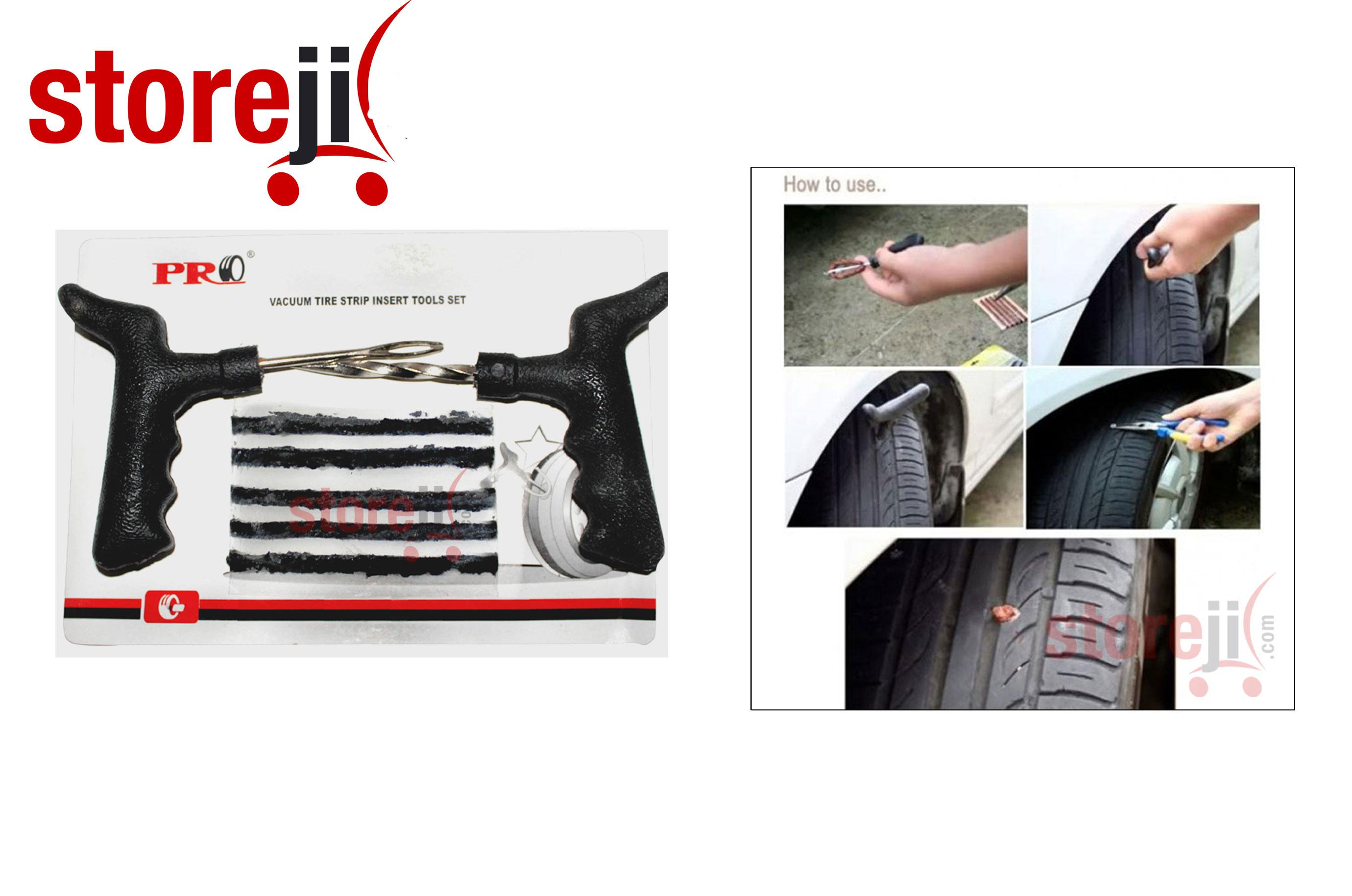 car bike tubeless tyre puncture repair kit. Black Bedroom Furniture Sets. Home Design Ideas