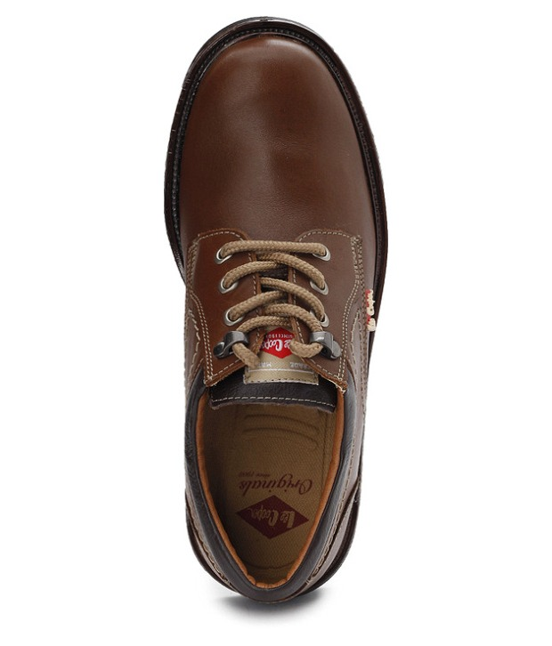 Buy Lee Cooper Men's Tan Formal Shoes (Option 1) Online- Shopclues.com