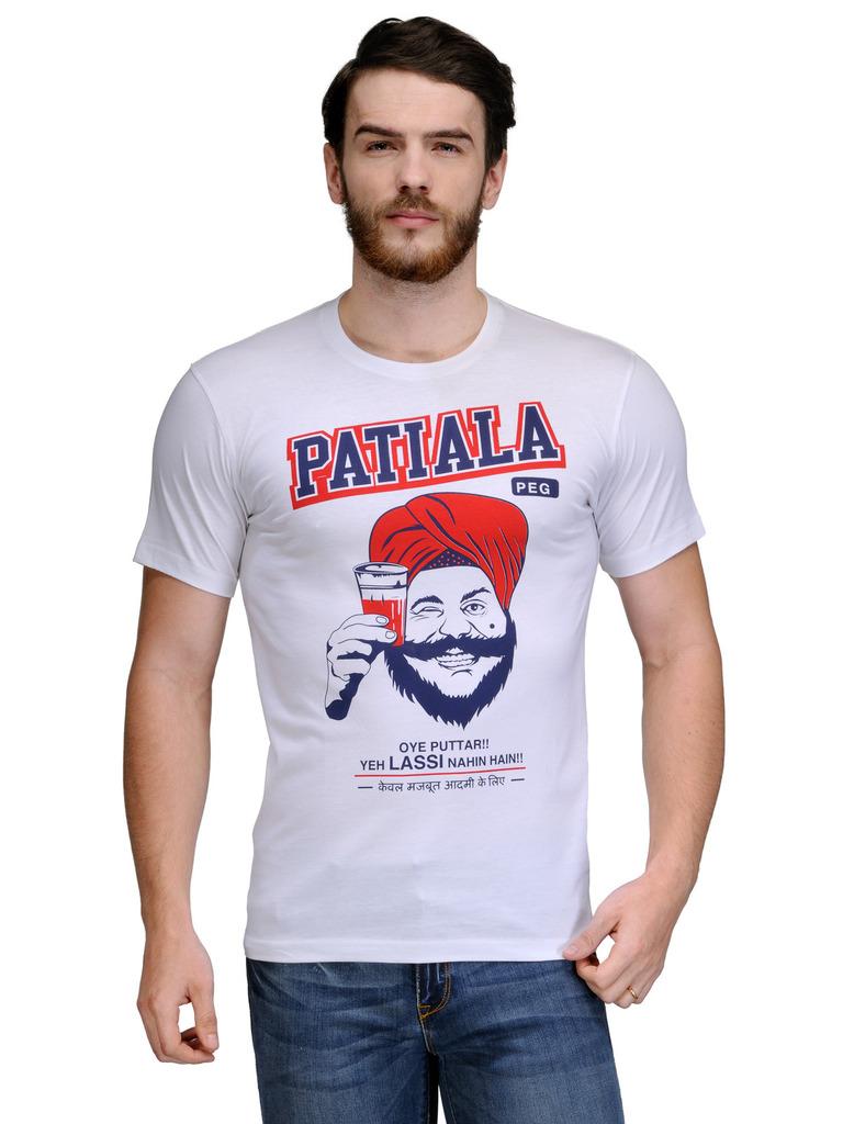 Buy rootstock white half sleeve t shirt for men online in for Half sleeve t shirts for men