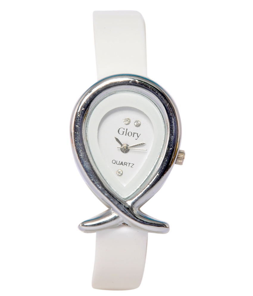 Women Fancy White Designer Casual Analog Girls And Ladies Watches