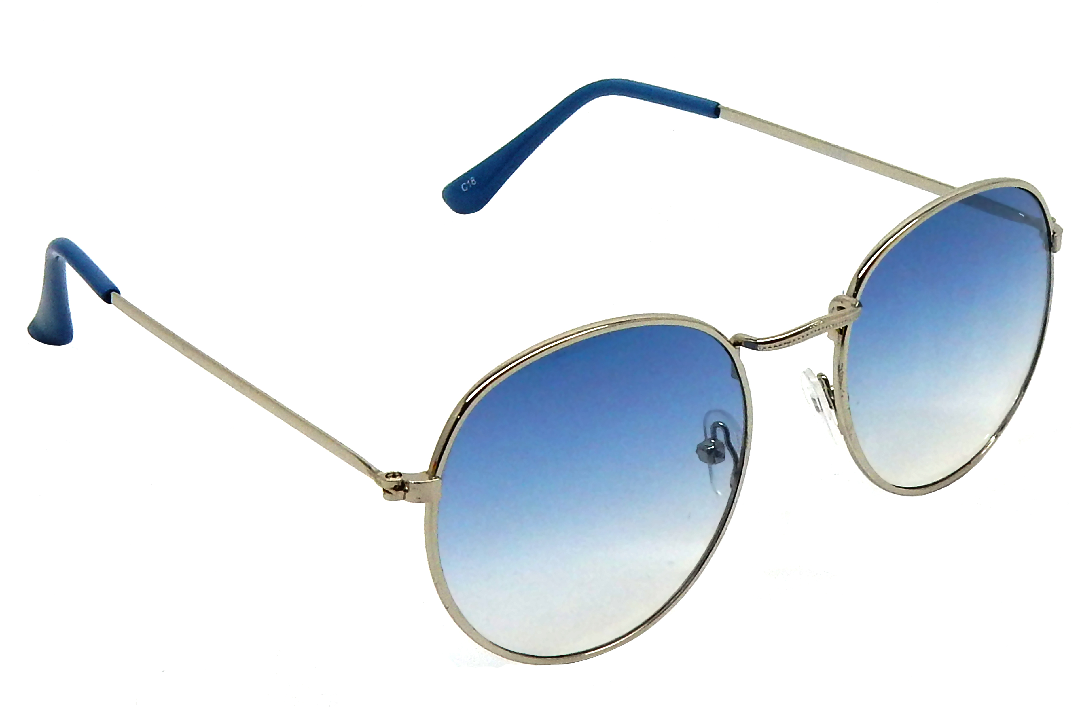 Red Knot Silver Round Sunglasses For Men  Women BTN-S6651-C18-48