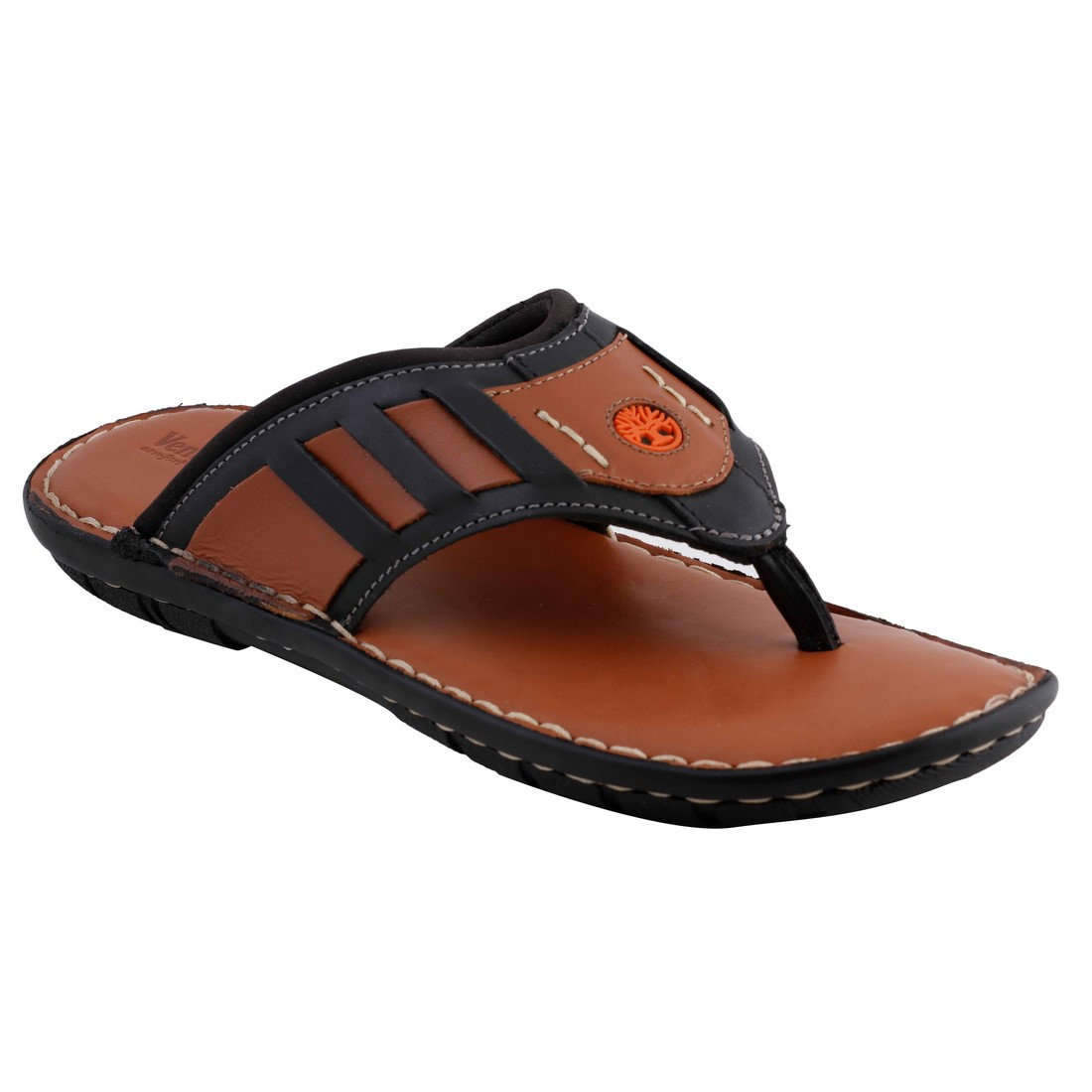Ventoland MenS Tan Slip-On Sandals (GWVLF-0202A)