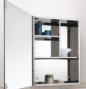 stainless steel stylish bathroom cabinet with mirror storage