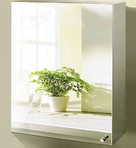 Large Bathroom Mirror With Storage: STAINLESS STEEL Stylish Bathroom Cabinet